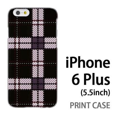 iPhone6 Plus (5.5インチ) 用『0908 ラインチェック 黒白』特殊印刷ケース【 iphone6 plus iphone アイフォン アイフォン6 プラス au docomo softbank Apple ケース プリント カバー スマホケース スマホカバー 】の画像