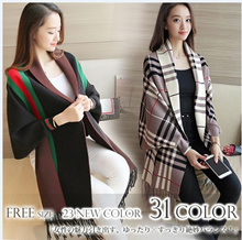 Cape shawl coat female autumn and winter cloak loose large size bat sleeveless knit shirt ladies