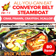 [Wuhan Steamboat City] All You Can Eat Steamboat. Conveyor Belt style. Enjoy 3 soup bases at one go! More than 80 items.