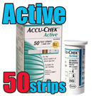 Brand New Box Accu chek accu check active Test Strips 50 sheet X 1 boxes 50 strips Expiration date : 8. 2016