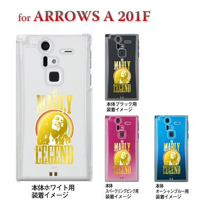 【ARROWS ケース】【201F】【Soft Bank】【カバー】【スマホケース】【クリアケース】【BOB MARLY】 08-201f-j0012の画像