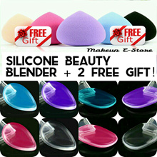 Last Day! Qoo10 Support[Free Gift] Silicone Sponge Cosmetic Puff Makeup Blender Transparent Puff