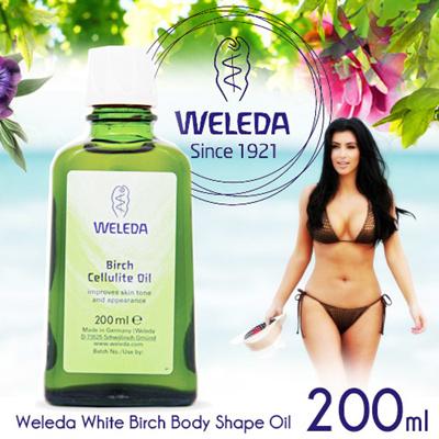 【送料無料】ヴェレダ【WELEDA】 ホワイトバーチ ボディシェイプオイル(セルライトオイル) 200ml White Birch Bodyshape Oil 200mlの画像