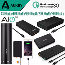 [Ready Stock ]Aukey 16000mAh / 20000mAh [ Pre-Order ]30000mAh Powerbank Charger ♥Qualcomm Portable Quick Charge 3.0★For All Samsung / Xiaomi / Android / iPhone / IOS ★