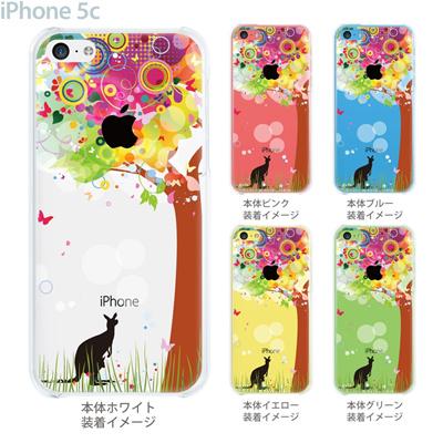 【iPhone5c】【iPhone5cケース】【iPhone5cカバー】【iPhone ケース】【クリア カバー】【スマホケース】【クリアケース】【イラスト】【クリアーアーツ】【花とカンガルー】 22-ip5c-ca0088の画像