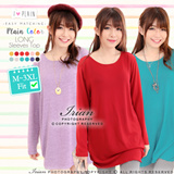 ♥ LuvClo~ Plain Color Easy Matching Long Sleeves Top (15 Colors)