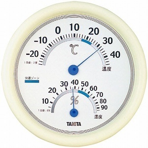 【クリックでお店のこの商品のページへ】TANITA タニタ アナログ温湿度計 TT-513-WH ホワイト