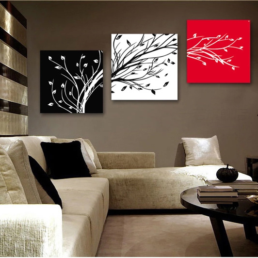 Buy Finished Productstarfish Triptych Frameless Painting Living