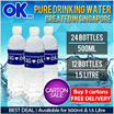 [OKOK] Pure Drinking Water Lowest Price In Qoo10 500ml/1.5L Option Available At The Same Price