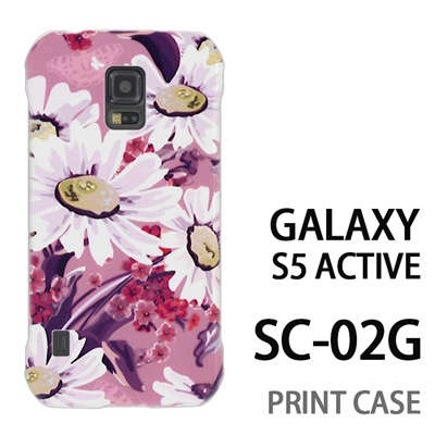 GALAXY S5 Active SC-02G 用『0310 蒲公英 ピンク』特殊印刷ケース【 galaxy s5 active SC-02G sc02g SC02G galaxys5 ギャラクシー ギャラクシーs5 アクティブ docomo ケース プリント カバー スマホケース スマホカバー】の画像