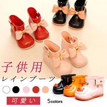 【theleader】SH222/SH223 キッズファッション キッズレインブーツ 可愛い 長靴 子供用 ブーツ  防水 ショート 女の子 3色 2タイプ