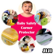 ★ Baby Safety Corner Protector★ Baby Bumper Strip ★  Kids Table Edge Strip★ Baby Safety Product★ Child Protection Edge Guard★ Elastic Toddler Furniture Corner Cushion [JIJI]