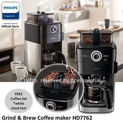 Philips Hd7762 Coffee Maker Grind Brew : Qoo10 - **FREE Premium COFFEE SET for Philips Grind n Brew Coffee maker HD7762 : Home Electronics