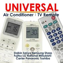 ★ Universal Aircon / TV Remote Controller Daikin Sanyo Samsung Sharp Fujitsu LG National Toshiba
