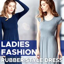 New! Women Basic Premium Dress - Rubber Dress 3 Style - Short Sleev and Long Sleeve - Dress Wanita