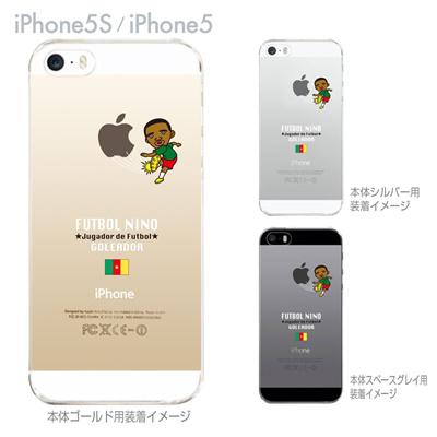 【カメルーン】【FUTBOL NINO】【iPhone5S】【iPhone5】【サッカー】【iPhone5ケース】【カバー】【スマホケース】【クリアケース】 10-ip5s-fca-cr01の画像