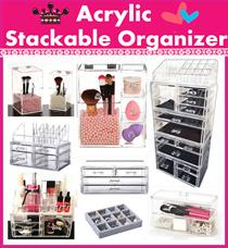Acrylic Stackable cosmetics orangnizer tool Makeup Storage Box Organizer jewelry brush lipstick case