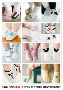 [ORTE] Baby Socks Girls Boys ★ $0.90 ★ 50 Designs ★ Korean Imported ★ Good Quality ★ 100% Cotton  ★  Very Comfy ★ Super Fast Delivery ★ Babies love it ★Grab it now ★