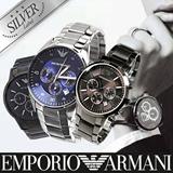 [EMPORIO ARMANI]★NEW MODEL STOCK IN★ GENUINE MENS/WOMENS WATCHES TRENDY FASHION - SILVER