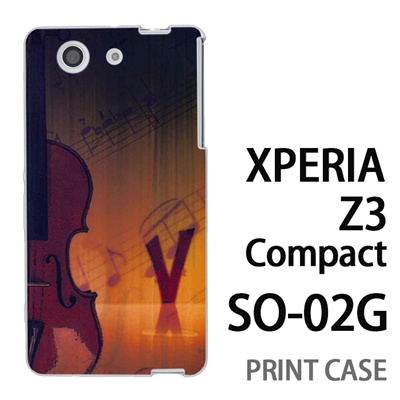 XPERIA Z3 Compact SO-02G 用『No1 V ヴァイオリン』特殊印刷ケース【 xperia z3 compact so-02g so02g SO02G xperiaz3 エクスペリア エクスペリアz3 コンパクト docomo ケース プリント カバー スマホケース スマホカバー】の画像