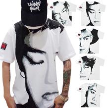 ★今日だけの激安い挑戦!!★BIGBANG TAEYANG BIGBANG G-DRAGON GD TOP D-LITE VI SOL FANTASTIC BABY Tシャツ トップスイングリッシュロゴスウェット Tシャツ シャツ トップス /ビッグバン/OFF WHITE/exo 服/HBA/G-DRAGON/防弾少年団/BTS/
