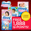 [Unicharm] 【FREE 1888 QPOINTS!!!】MOONY/ MOONYMAN Air Fit Diapers - Super Premium Range | Made In Japan | No.1 Recommendation By Mothers | Prevents Leakage Contoured Comfort Waistline