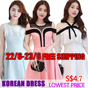22/6 Korean dresses/Occupation/Casual/chiffon/lace/suit/Office/Leisure/Bridesmaid/Short/strapless