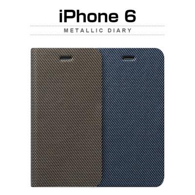iPhone6カバーアイホン6 アイフォン6ケースiphoneケース アイフォン ブランド iphoneカバーiPhone6用 【iPhone6 4.7インチ 】ZENUS Metallic Diary (メタリックダイアリー)【レビューを書いてメール便送料無料】の画像