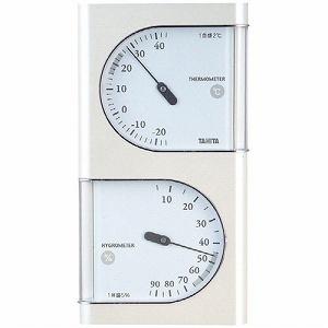 【クリックでお店のこの商品のページへ】TANITA タニタ アナログ温湿度計 TT-518-PR パールホワイト