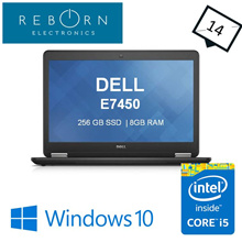 [Refurbished] Dell Latitude E7450/ IntelCore I5 / 256GB SSD/ 8GBRAM / Wins10 Pro / 30 days Warranty