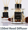 ZOLAND 150ml Alcohol Free Series Fragrance Essential Oil Aromatherapy Reed Diffuser with 8 scents