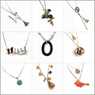 [HANABE KOREA] High Quality Handmade Korean Fashion Gift Present 925 Silver Crystal Pearl Vintage Retro Antique Long Chain Charm Necklace Necklet Choker Lariat/ MADE IN KOREA