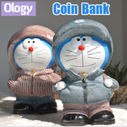 Doraemon Coin Bank Stand By Me Table Display Piggy Storage Box Soft Toy Collection Xmas Gift Idea