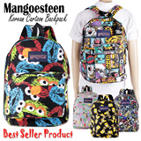 MANGOESTEEN CARTOON BACKPACK/TAS RANSEL KARTUN # UNISEX # BAHAN CANVAS