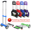 ◆SG Local Fast Delivery◆Foldable Hand Cart◆3 type/Trolley / Travel cart / Push Pull Cart Hand singapore Wheel Folding Moving Heavy Duty Utility Capacity CNY New year Christmas