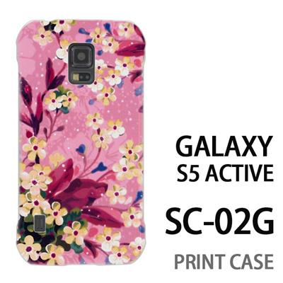 GALAXY S5 Active SC-02G 用『0310 水中の花 ピンク』特殊印刷ケース【 galaxy s5 active SC-02G sc02g SC02G galaxys5 ギャラクシー ギャラクシーs5 アクティブ docomo ケース プリント カバー スマホケース スマホカバー】の画像