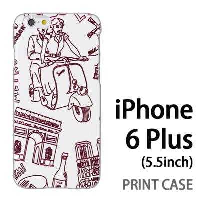 iPhone6 Plus (5.5インチ) 用『0910 ローマの休日 白』特殊印刷ケース【 iphone6 plus iphone アイフォン アイフォン6 プラス au docomo softbank Apple ケース プリント カバー スマホケース スマホカバー 】の画像