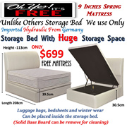 [Beds Specialist] Storage Bed With Huge Compartment Space