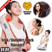 [FATHERS DAY SPECIAL]uPAPA Hug Neck Back and Shoulder Massager Similar* Comfortable and Amazing * Unique Powerful Drum Rhythmic Massage * Massage Pillow Cushion * Sooth Aches [jijiideas]