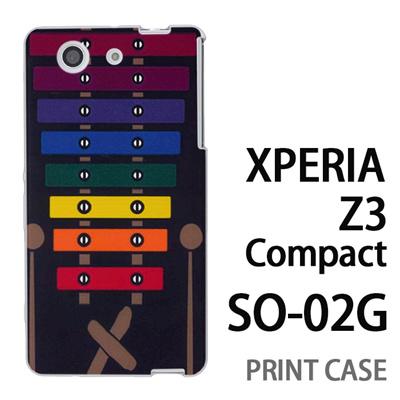 XPERIA Z3 Compact SO-02G 用『No1 X_木琴 黒背景』特殊印刷ケース【 xperia z3 compact so-02g so02g SO02G xperiaz3 エクスペリア エクスペリアz3 コンパクト docomo ケース プリント カバー スマホケース スマホカバー】の画像