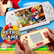 The Classic Retro Free 600 games Video Game Console Colorful Display 2.6 inch MP5 Handheld Game Player