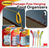 [Official E-Store] Command™ Cord Organizers and Bundlers - Small / Medium  / Large - Wire / Cable / Home / Office