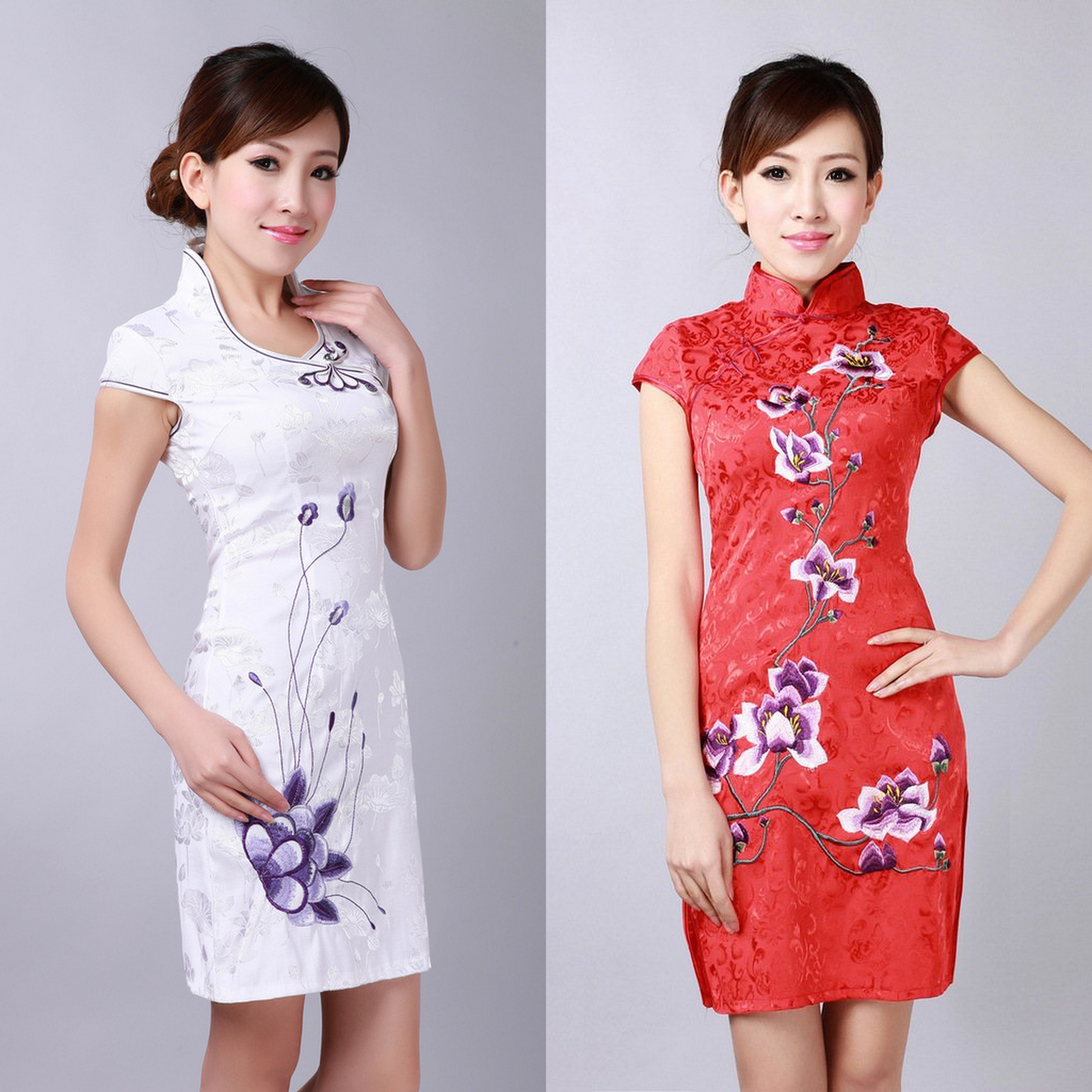 qoo10 flat price chinese new year cheongsam classic women party dress s women s clothing. Black Bedroom Furniture Sets. Home Design Ideas