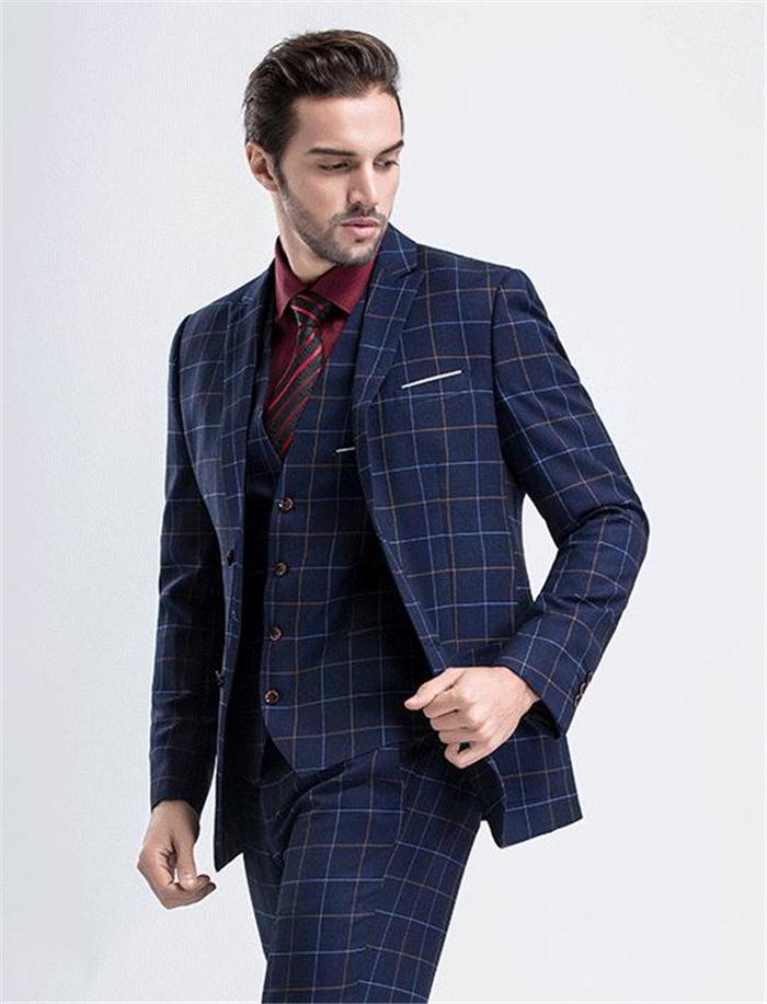 チェック柄スーツ メンズスーツ スリーピース ビジネススーツ 3ピース スリムスーツ スーツセット 結婚式スーツ おしゃれスーツ フォーマル パーティー 就活 紳士服