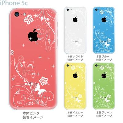 【iPhone5c】【iPhone5cケース】【iPhone5cカバー】【ケース】【カバー】【スマホケース】【クリアケース】【フラワー】【花と蝶】 22-ip5cp-ca0066の画像