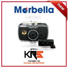 ★Marbella 1st Korea Made Camera★ KR5 2H (FHD1080P+HD720P) Dual Cam Recorder WI-FI/24Hrs Parking