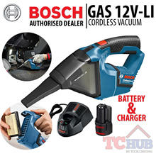 Bosch GAS 12 V-Li.Comes with 1 battery and charger. Powerful Compact Cordless Vacuum with Filter