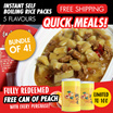 [Bundle of 4] Instant Self Boiling Rice Packs - 5 Flavours