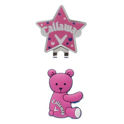 キャロウェイ (Callaway) Bear Marker 15JM(ベアーマーカー)ピンク 5915133 [分類:ゴルフ マーカー]の画像