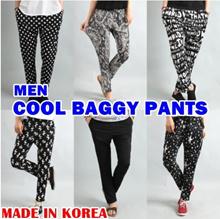★Korea Hit★ men cool baggy pants harem slacks casual pant trousers jeans straight shorts dress beachwear summer beach wear 3/4 clothing